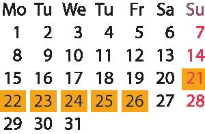Kalender - Ligna2017